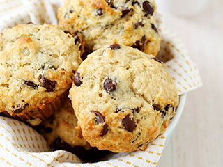 Muffins met chocoladesnippers