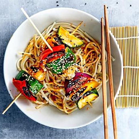 Teriyaki groentespies met noedels