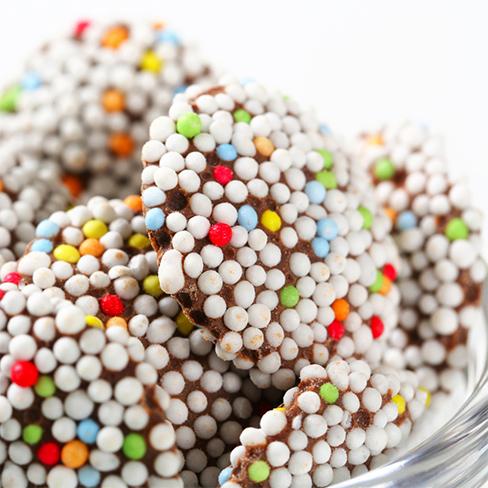 Chocoladeflikken met spikkels