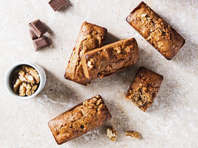 Dadel-noten cakejes met chocolade