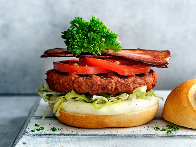 Vegan BLT burger